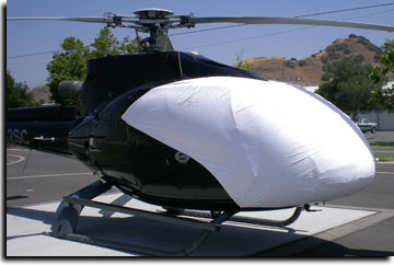 Eurocopter EC130 sun shade helicopter cover