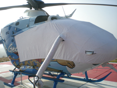 EC135 sun shade helicopter cover