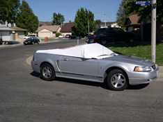 sun shade car cover Ford Mustang Convertible 2002